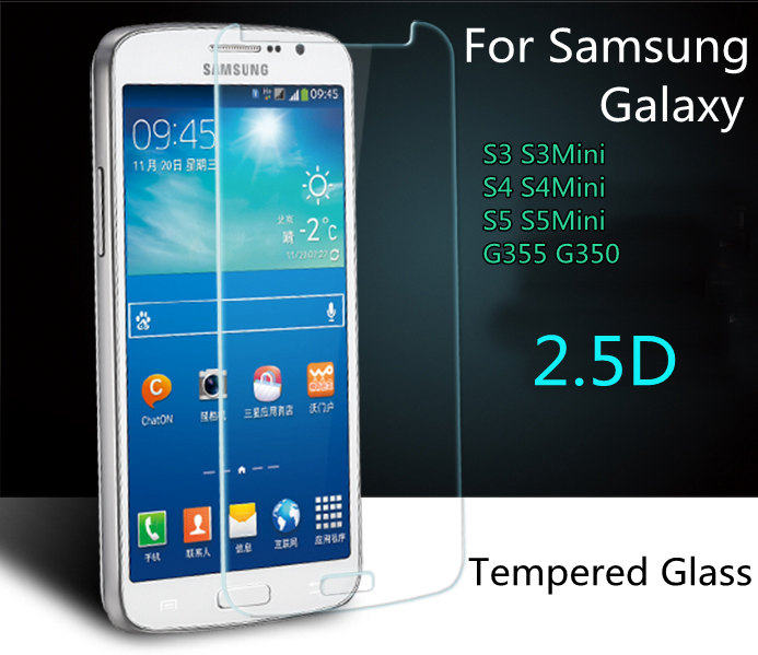 9H Explosion proof Glass For Samsung galaxy J3 J5 J7 S3 S4 S4MINI S5 S6 S7 LCD Screen Protector Tempered Glass Film