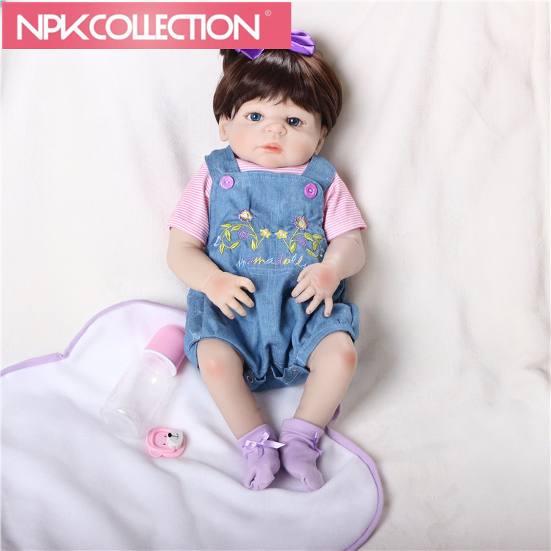 22 full body Silicone reborn baby girl dolls reborn fake reborn babies for children gift real bebe alive boneca N105-106 55cm full body silicone reborn baby girl dolls reborn babies dolls for children gift real bebe alive boneca