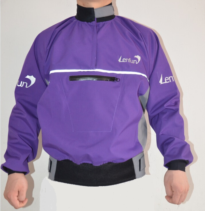 Lenfun Semi-dry tops spray jackets  water resistant cags  paddle  for kayak caneoing,sailing fishing surfing kayak suit