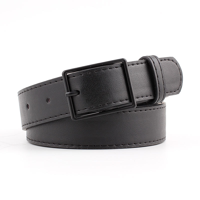 2019 New Ladies Wide Red Brown Black Leather Belt Waist Band Female Fashion Streetwear Belts For Women Jeans Cinto Feminino