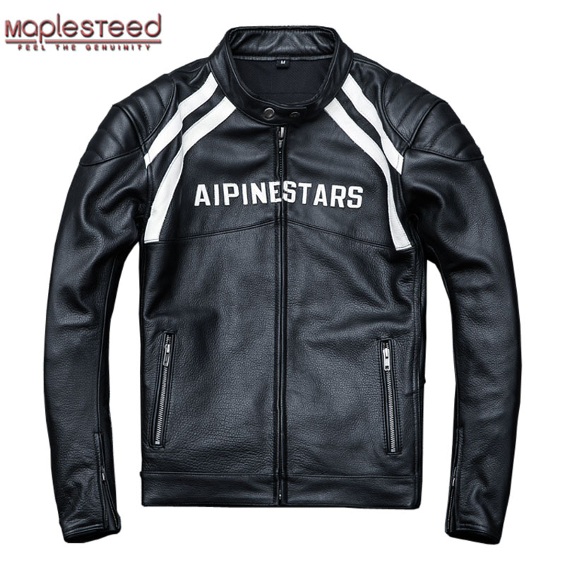 MAPLESTEED Biker-Coat Motorcycle-Jacket Winter Thick 100%Cow-Leather 4XL Club Installable