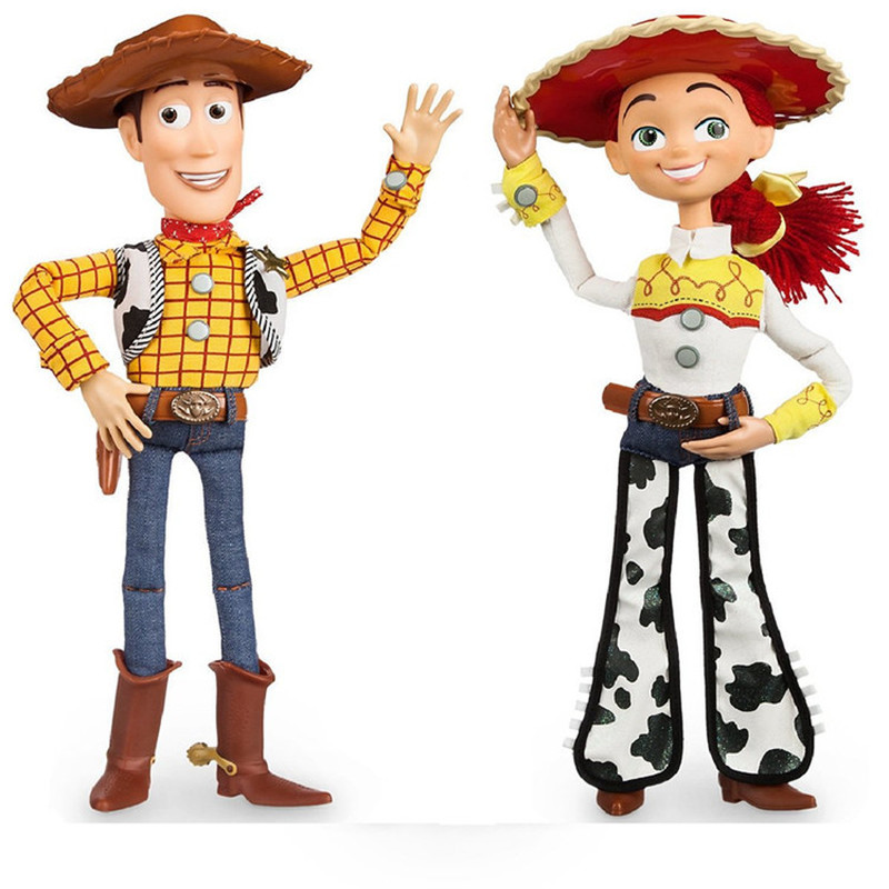 43cm Toy Story 4 Talking Woody Action Toy Figures Model Toys Children Christmas Gift Free Shipping