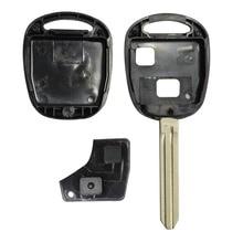 Uncut Замена Бланк Дистанционного Ключа Дело Shell для Toyota Avensis Yaris Auris 2 Кнопки Крышка Клавиатуры с резиновую прокладку логотип