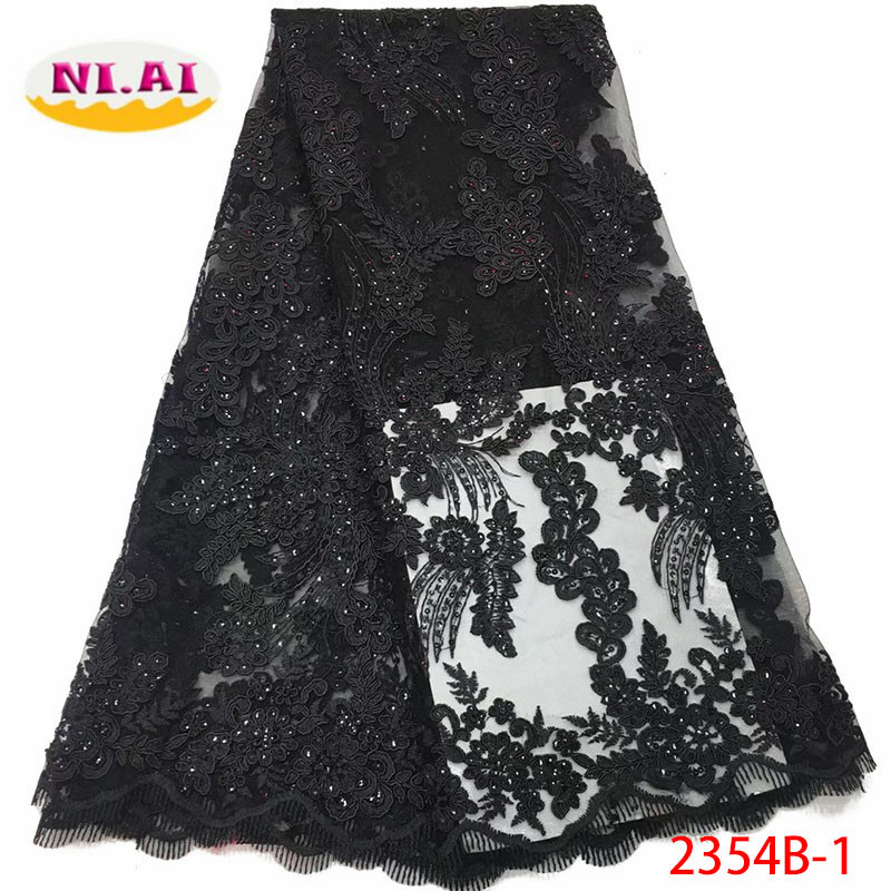 2018 Latest French Nigerian Laces Fabrics High Quality Sequins Tulle African Laces Fabric Wedding French Tulle