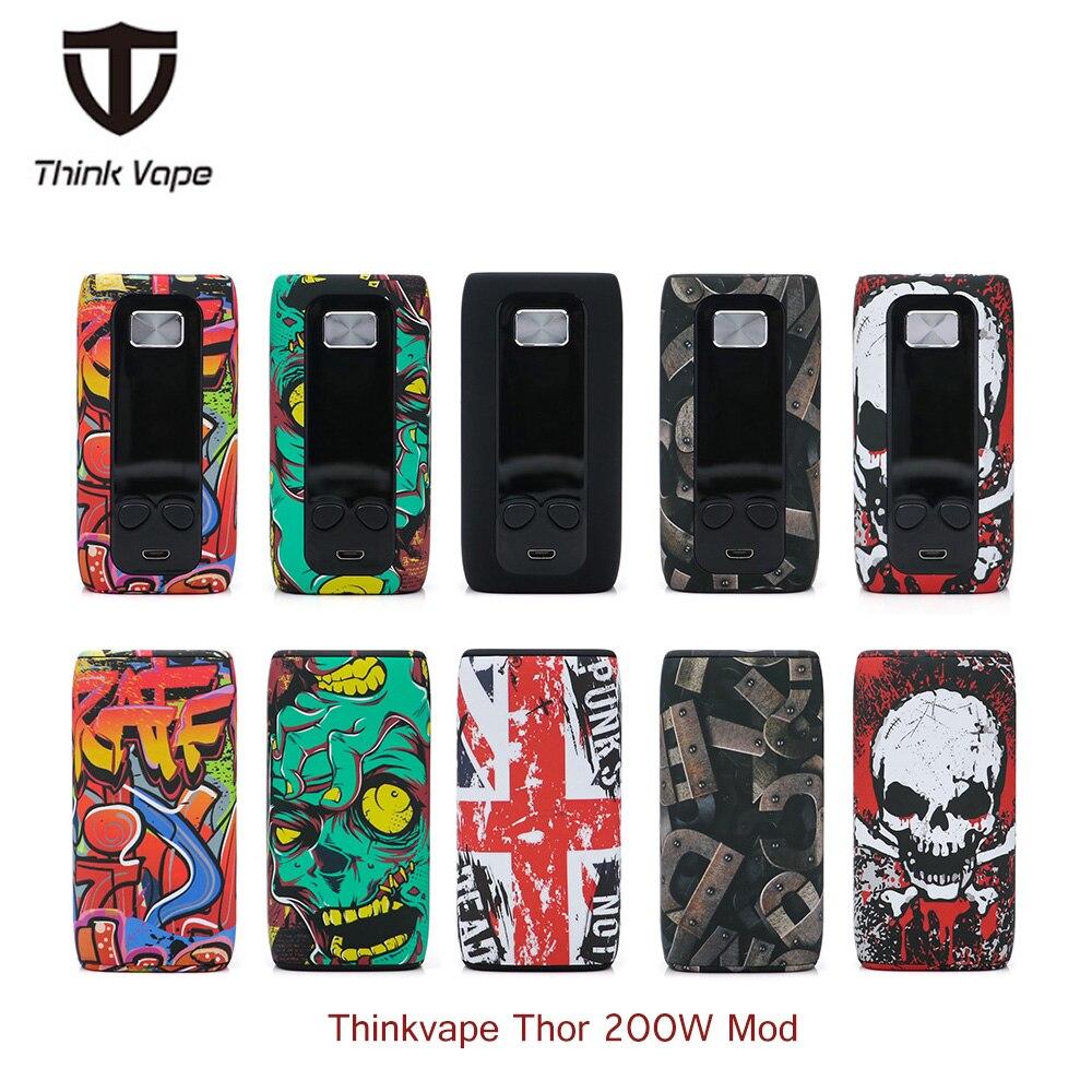 Original Thinkvape Thor 200 W caja de Control de temperatura Mod Think Vape Thor vape Bypass vape mod Modes 510 e Cig Mod vs vapor puma storm