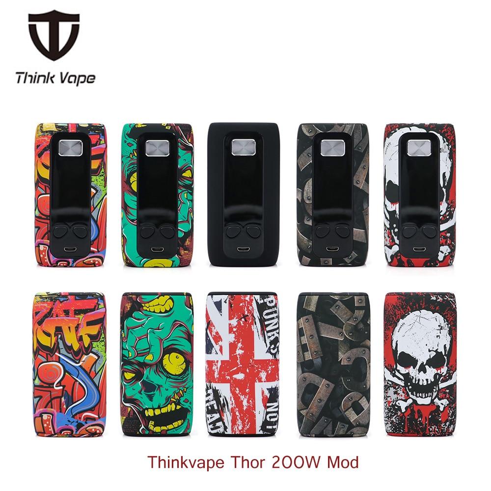 Original Thinkvape Thor 200 watt Temp Control Box Mod Denken Vape Thor vape Bypass vape mod Modi 510 e Cig mod vs dampf puma storm