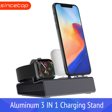 3 in 1 Charging Dock Holder For Iphone X 8 7 6 Aluminum charging stand Station Apple watch Airpods