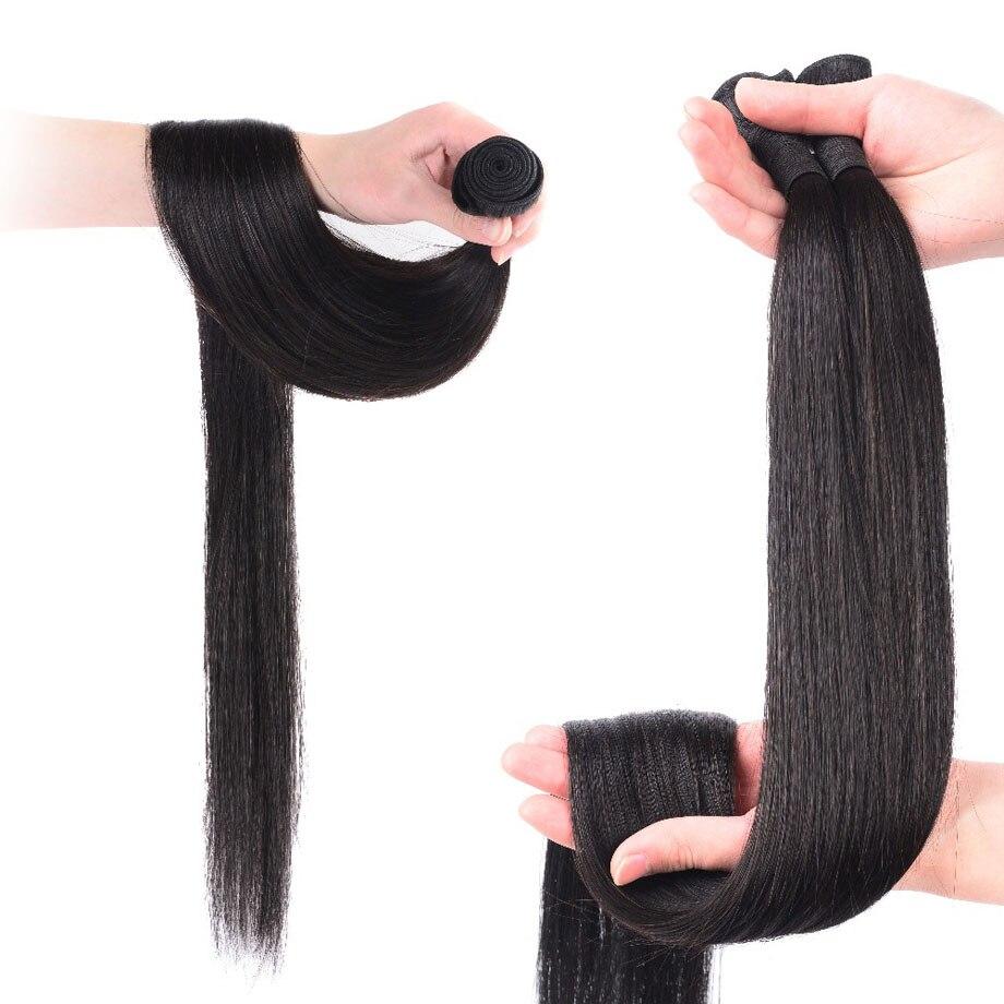 straight hair bundles with closure remy brazillian hair weave bundles preplucked short long human hair extension 3 bundles