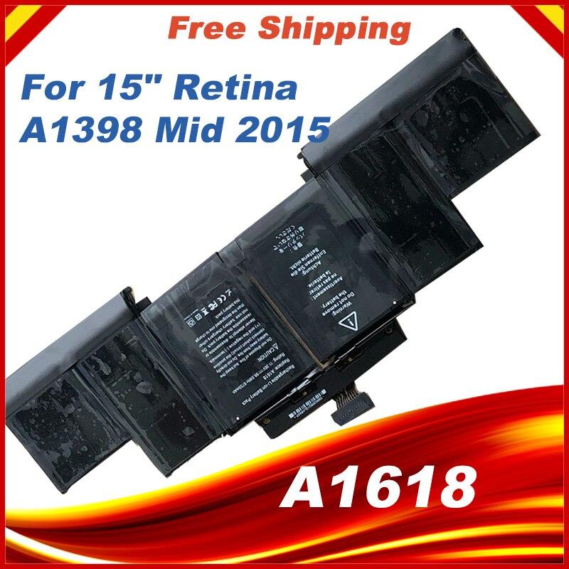 99.5Wh 11.36 V A1618 15 A1398 Bateria Para Apple MacBook Pro Retina 15.4 ''