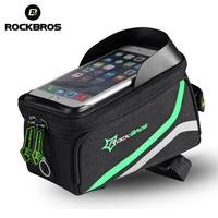 ROCKBROS Bicycle Bag Waterproof MTB Bike Front Top Frame Handlebar Touch Bag Bisiklet Aksesuar Cycling Bag