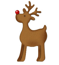 Christmas Animal Deer Frame Metal Cutting Dies CUT 3D DIY Scrapbooking Carbon Craft Die Photo Invitation Card Decor 2.5X4.1cm(China)