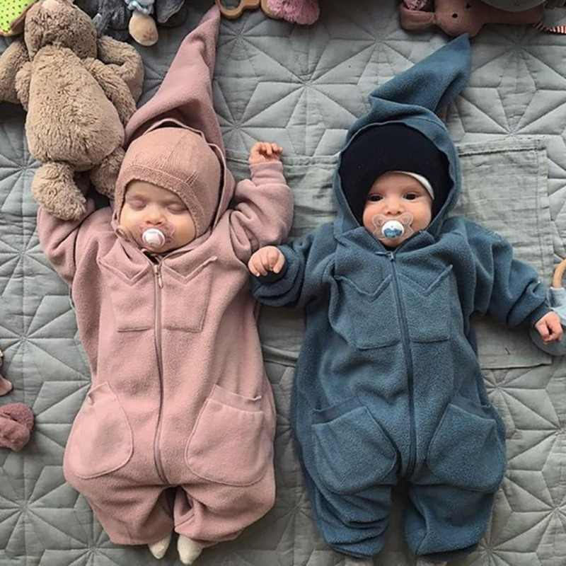 2d50c6ef769 Winter Newborn Baby Cotton Romper Girls Boys Cute Cartoon Little Monster  Overalls Romper Infants Bebes Jumpsuit