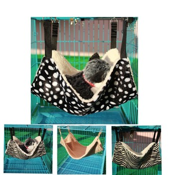 Umiwe Warm Soft Hanging Cat Bed Hammock For Pets Small Dog Puppy Plush Cat Pet Cage Rat Hammocks Kitty Hanging Duvet Beds Mats Warm Soft Hanging Cat Bed Hammock Warm Soft Hanging Cat Bed Hammock HTB1 5E4RFXXXXXbXVXXq6xXFXXXN