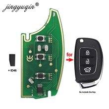 Jingyuqin 433 МГц пульт дистанционного управления для hyundai IX35 IX25 IX45 Elantra Santa Fe 2013-2017 + транспондер чип ID46