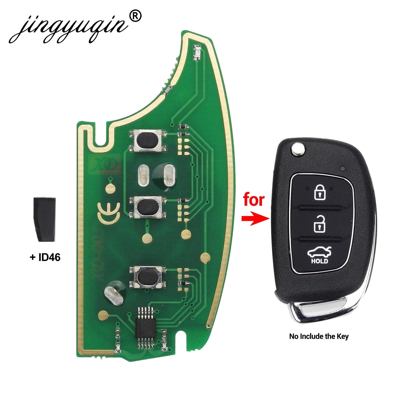 jingyuqin 433Mhz Remote Key Circuit Board For Hyundai IX35 IX25 IX45 Elantra Santa Fe 2013-2017 + Transponder Chip ID46jingyuqin 433Mhz Remote Key Circuit Board For Hyundai IX35 IX25 IX45 Elantra Santa Fe 2013-2017 + Transponder Chip ID46