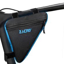 Zacro rowerowa torba rowerowa przednia rurka rama telefon wodoodporne torby rowerowe trójkąt etui uchwyt ramki akcesoria Bycicle tanie tanio CCC ISO9001 NYLON Składany ZSW0029