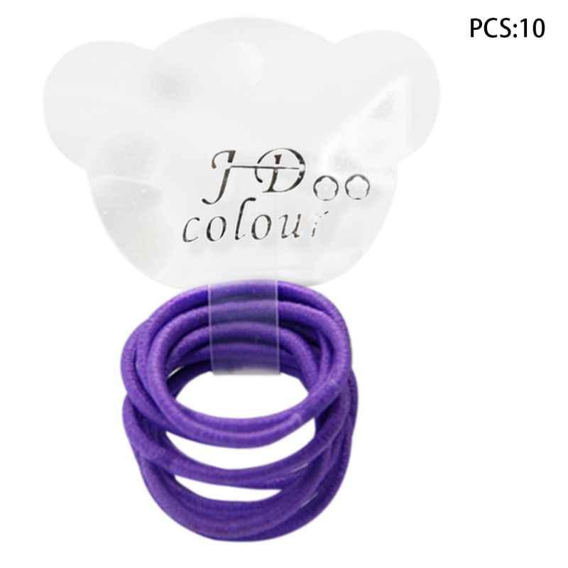10 шт./компл. детские мини для маленьких девочек эластичная резинка флуоресцентный яркий Цвет волос Канаты полиэстер хвост держатель галстук десен