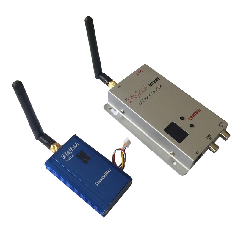 2.4GHz 1000mW Long Range Wireless Video Transmitter And Receiver, 1-2 KM Long Distance Wireless CCTV Video Transmitter