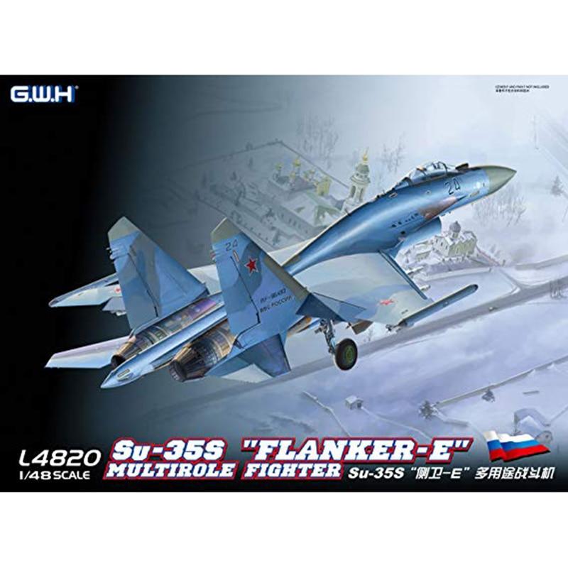 """1/48 G.W.H L4820 Su 35s """"Flanker E"""" Multirole kämpfer modell hobby-in Modellbau-Kits aus Spielzeug und Hobbys bei  Gruppe 1"""