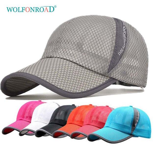 05d6a9afa WOLFONROAD Summer Men Women Hiking Caps Outdoor Sport Camping Hats Men UV  Protection Mesh Baseball Cap Headwear Caps L YSM 001-in Hiking Caps from ...