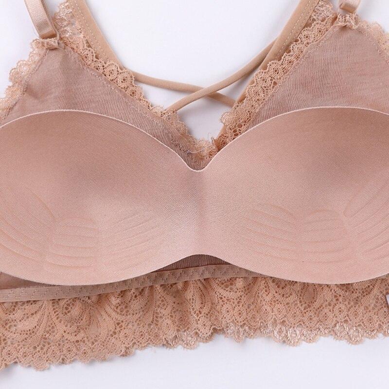 Women Push Up Lace Bras Underwear Sexy Padded Tube Top Summer Bras Female Tank Tops in Tube Tops from Underwear Sleepwears