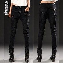 Женские джинсы тонкий ноги стрейч карандаш брюки длинные студент Скидка продвижение Мода sexy джинсы продают как горячие пирожки