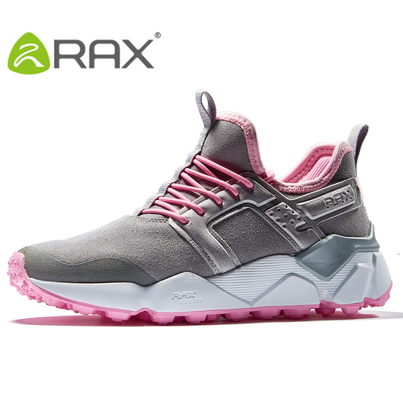 RAX Womens Winter Suede Leather Cushioning Hiking Shoes Antiskid Rubber Outsole Water-Resistent Classic Style