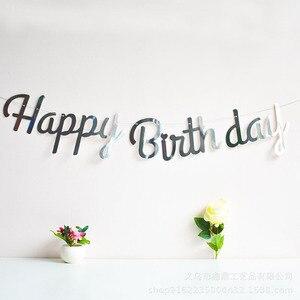 Image 3 - Rose Gold Happy Birthdayตกแต่งแบนเนอร์1st First Birthday Boyสาวเด็กผู้ใหญ่Buntingธงผ้าGarland Oneปี