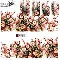 Tracy Simple Del Clavo de 1 Hojas Nail Art Sticker DIY Completo cubierta de la Nueva Flor de La Vid de La Flor Salon Manicure Decals Láminas de Uñas A080