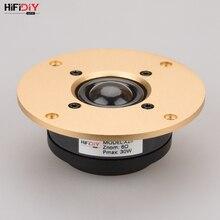 Динамик HIFIDIY LIVE 4,5 дюйма X1II, динамик с алюминиевой панелью, Прозрачная Шелковая мембрана, 6OHM30W, тройной громкоговоритель, золотой динамик 94 ~ 130 мм