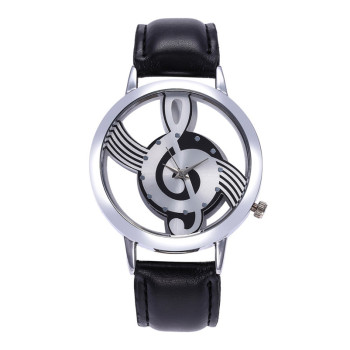 Women's watches 2018 fashion pu leather Ladies watch Women Fashion Leather Stainless Steel Musical symbol watch #2AP22B
