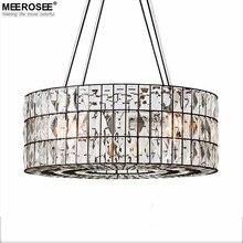 Luxueux Lustre En Cristal Anneau Forme Suspension Lampe Lustre pour salon Restaurant Café Hôtel Élégant Luminaire Lampe Baisse