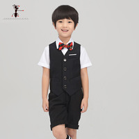 Kung Fu Ant Summer Cool Suit In Party Summer Short Sleeve Shirt Shorts Tie Vest Costumes