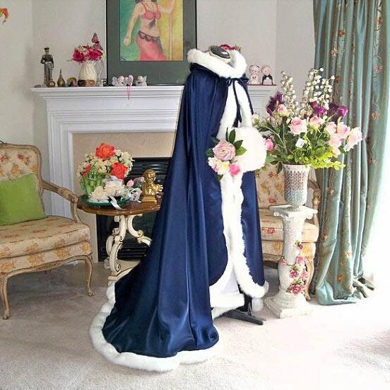 Achetez en gros hiver de mariage cape en ligne des - Manteau mariage hiver ...