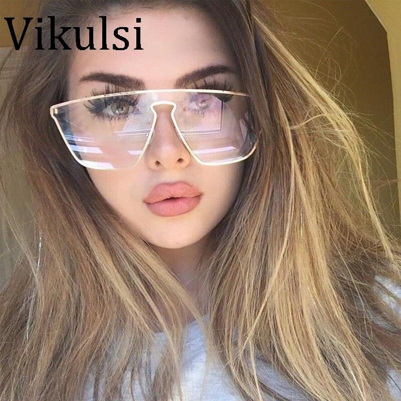 2019 Neuer Stil Gold Klar Brillen 2017 Neueste Übergroßen Metall Rahmen Frauen Sonnenbrille Marke Designer Großen Sport Männer Sonnenbrille Shades Oculos