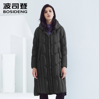 Bosideng down jacket women's long hooded casual wild long winter jacket female special back B80131116