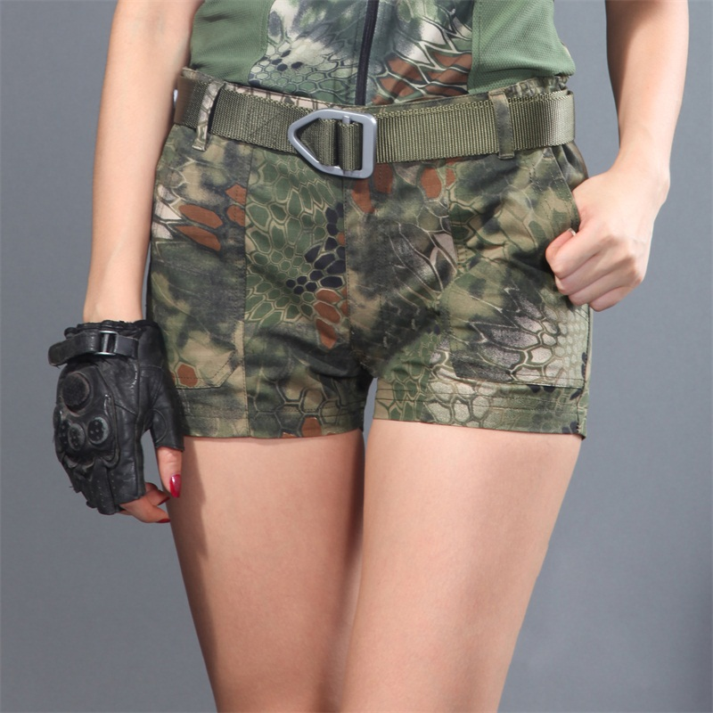 High Quality Tactical Summer Kryptek Girls Camouflage Shorts,women Camo Cargo Shorts , Army Military Hot Shorts for Girls