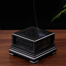 High Quality Wooden Incense Burner Wood Censer Sandalwood Furnace Living Room Holder Aroma Buddhist