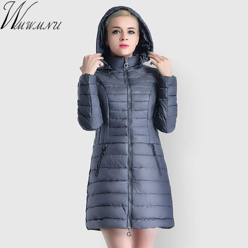 2018 Spring Women's slim Jacket Warm With a Hood Stylish Women's Park Coat High-Quality Women's   Parka   New autumn