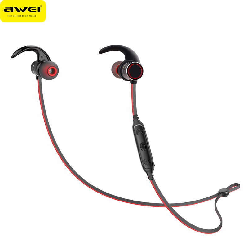 awei Wireless Sports Bluetooth Earphone Magnetic IPX4 Waterproof Headset for IPhone for Huawei Smartphones AK9 Головная гарнитура