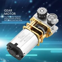 12V Micro Gear Motor Brush DC Motor 11RPM N20 Right Angle Metal Gearbox Micro Gear Motor for Printing Pen