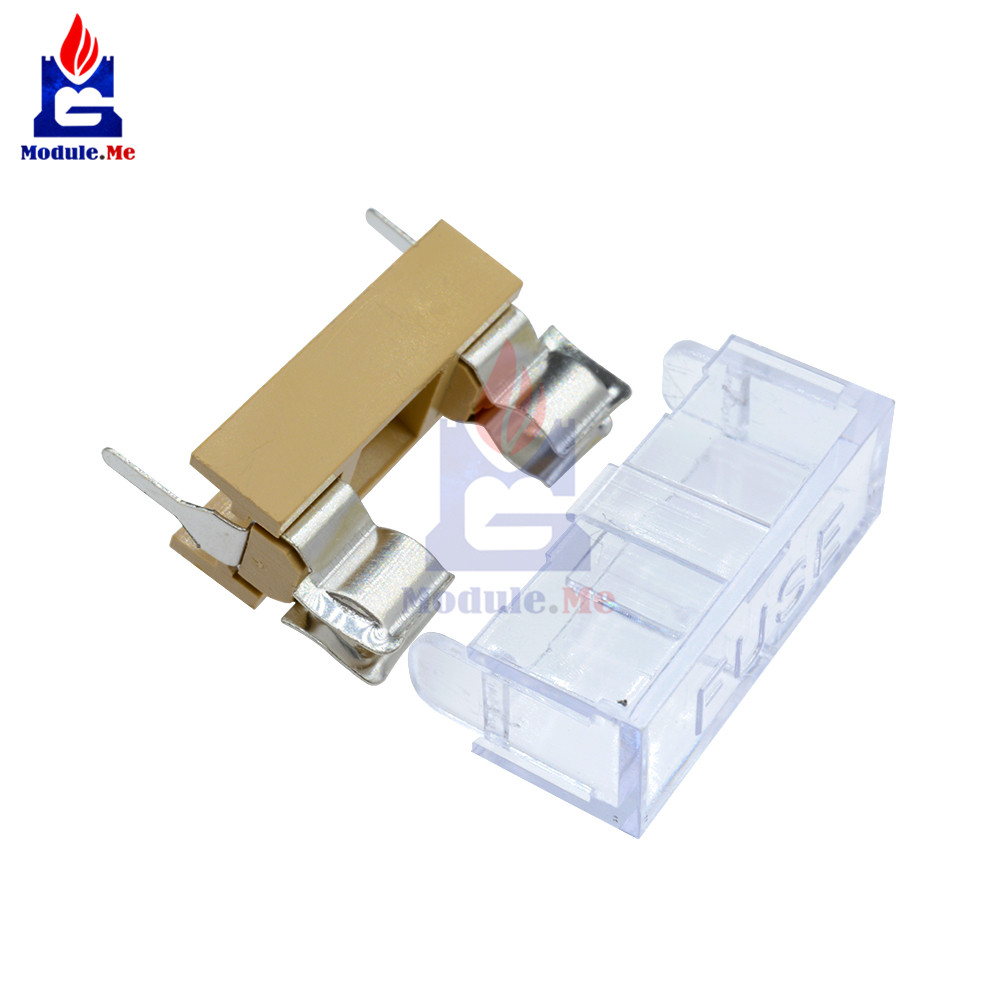 10PCS Panel Mount PCB Fuse Case Holder With Cover For 5x20mm Fuse 250V 6A New