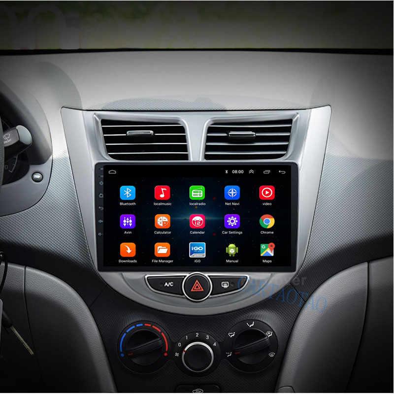 Para Hyundai Solaris Verna 2 Din Android 8,1 OS radio de navegación para coche reproductor multimedia de vídeo estéreo compatible con enlace espejo WIFI DAB