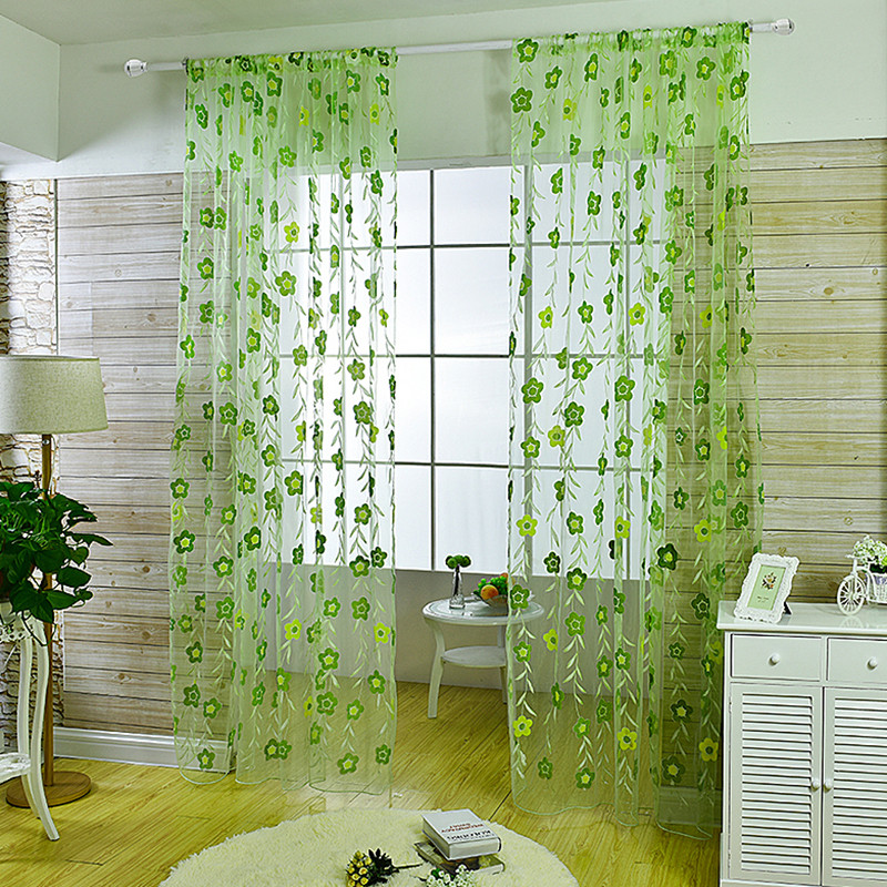 Popular light green curtains buy cheap light green curtains lots from china light green curtains - Mint green kitchen curtains ...