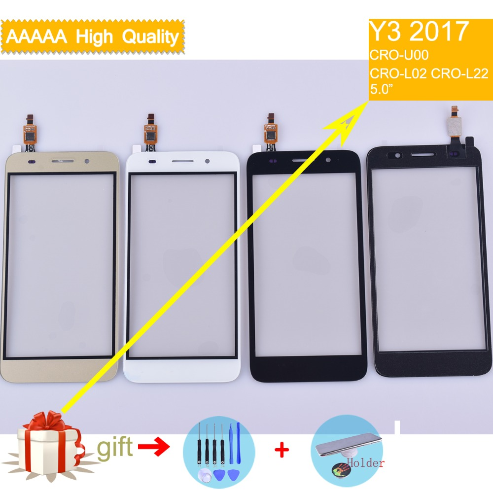 For Huawei Y3 2017 Touch CRO-U00 CRO-L02 CRO-L22 Touch Screen Touch Panel Sensor Digitizer Front Glass Outer Lens Touchscreen