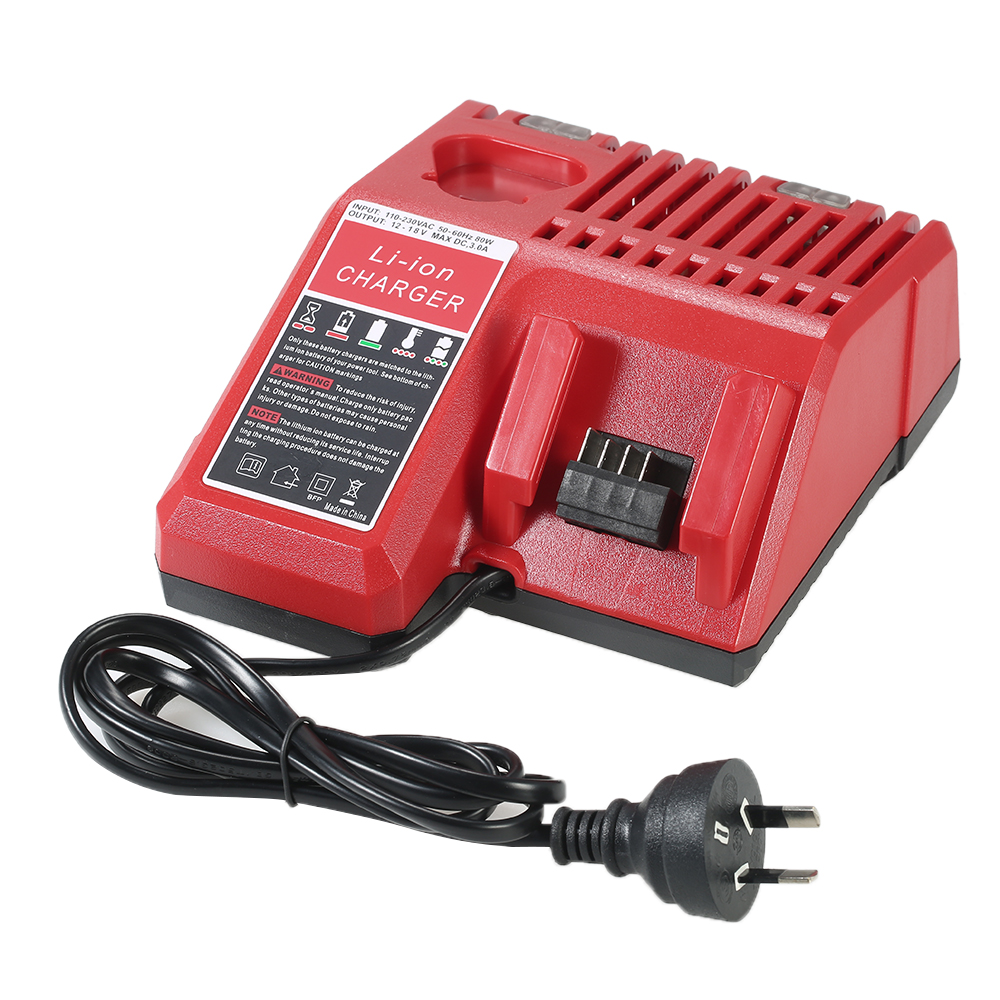 Replacement Li-ion Battery Charger power tools Lithium-ion Battery Charger for Milwaukee M12 M18 Battery Packs AC110-230V 18v li ion 3000mah replacement power tool battery for milwaukee m18 xc 48 11 1815 m18b2 m18b4 m18bx li18 with power charger