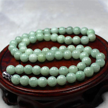 fine jewelry natural fashion hand-making chains necklace 7mm round beads charm necklace