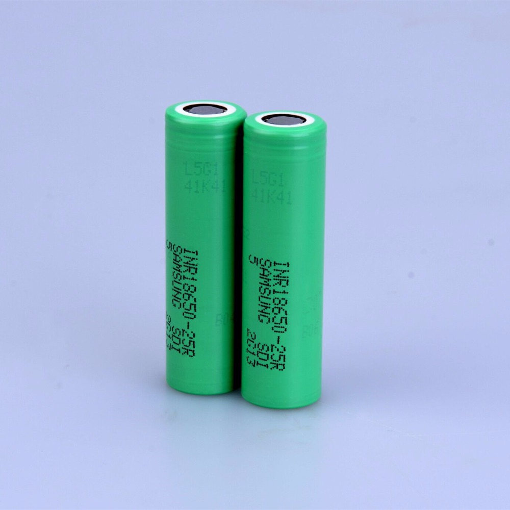 100% REAL For SAMSUNG INR 18650 25R 3.6V 3.7V 2500mAh Lithium ion Li ion Rechargeable chargeable