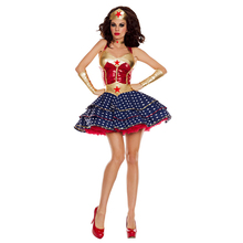 Adult Sexy Wonder Woman Costume Women Supergirl Cosplay Halloween Superhero Party Fancy Dress Up Carnival Superwoman Outfit