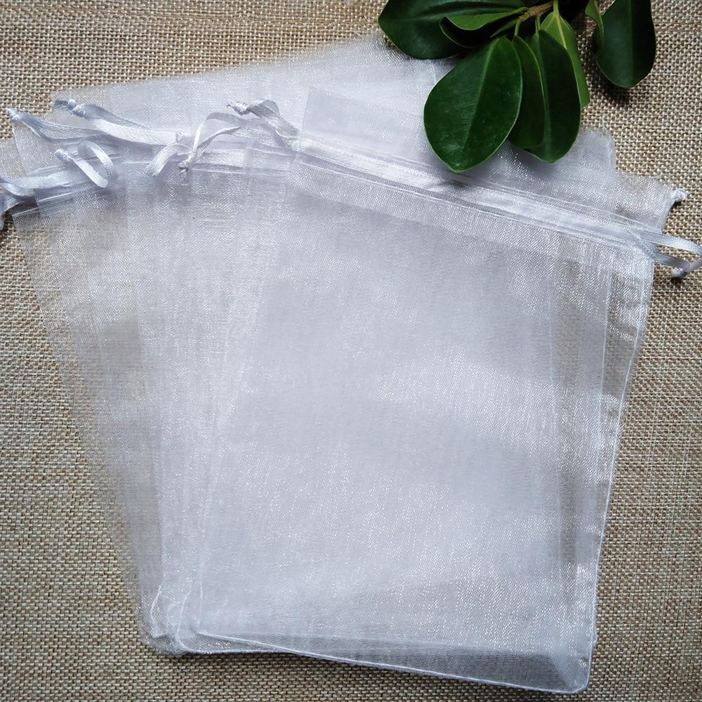 100 шт./лот 11x16 13x18 15x20 17x23 см сумка для ювелирных изделий из органзы на шнурке сумки для свадебвечерние подарков на Рождество сумки для упаковк...